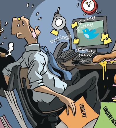 L'épuisement cognitif ICT. Régine Sponar; Illustration Nicolas Vadot