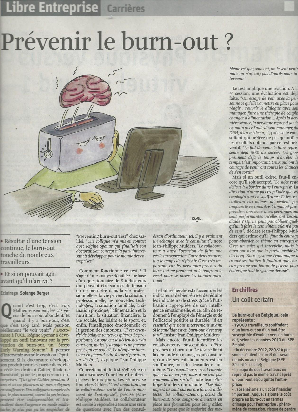 La Libre Premier article sur PBT - copie